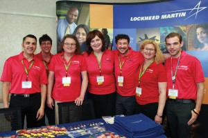 From left: Lockheed Martin's Nick Hudak, Chris LaFleur, Deanna Pearce, Christine Bland, Lance Freedman, Gretchen Peacock and Patrick Hewitt