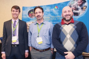 From left: Argonne National Laboratory's Paul Flood, Alberto Camargo and Skip Reddy