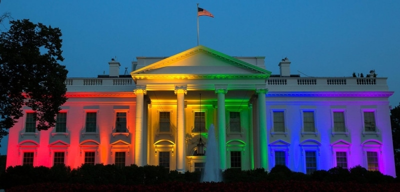 Obama officials celebrated the Supreme Court_s June 2015 ruling by lighting up the White House with the colors of the Pride flag